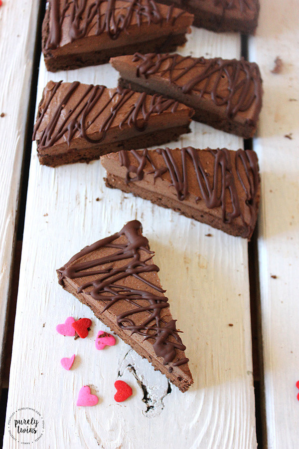 Healthy Chocolate Mousse Brownies