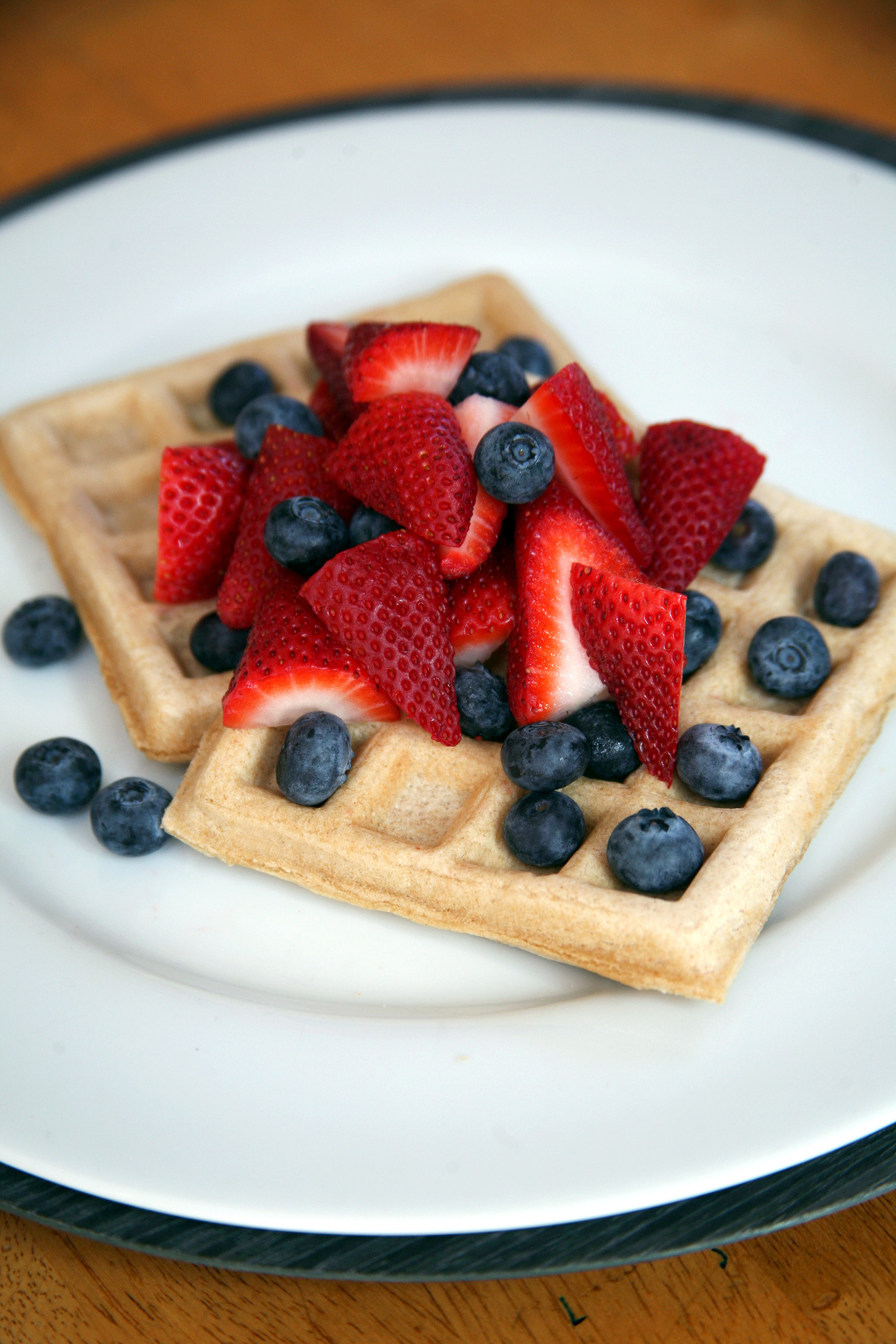 Hot Off the Iron! Healthy Vegan Waffles
