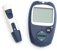 Blood Glucose Meter and Punch for Diagnosis