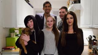 Dr Rangan Chatterjee with Emma Gleeson and her family