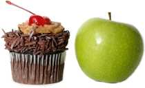Cupcake and Apple
