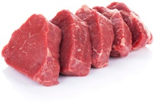 Cut Pieces of Red Meat